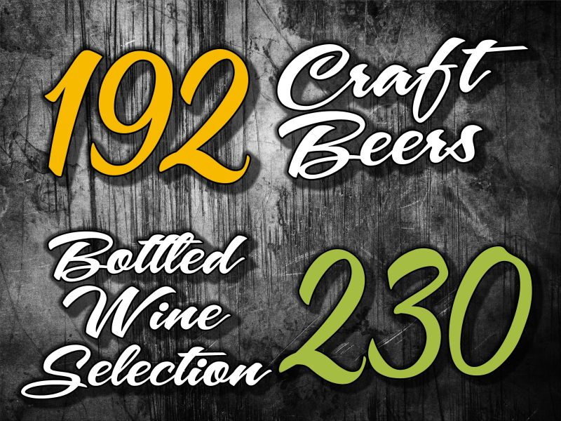 36x48 craft beer and bottled wine